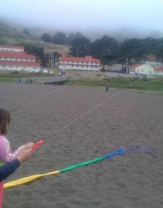 Kite Flying with Mrs. Atkinson at Rodeo Beach Auction
